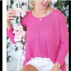 Sweaters - 🚨BUY 2 GET 1 FREE!🚨✨Pink Slouchy Sweater Top